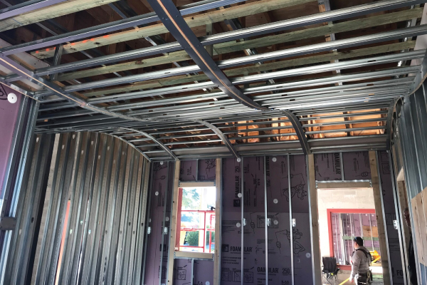 "Metal Framing ""Wave"" Ceiling"